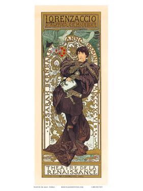 Lorenzaccio, Art Nouveau, La Belle Époque by Alphonse Mucha