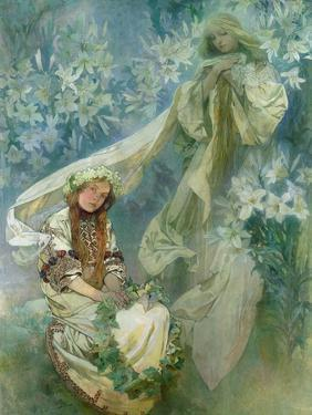 Madonna of the Lilies, 1905 by Alphonse Mucha