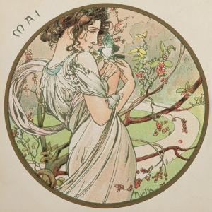 May, 1899 (Detail) by Alphonse Mucha