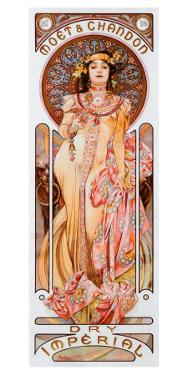 Moet Chandon Dry Imperial by Alphonse Mucha