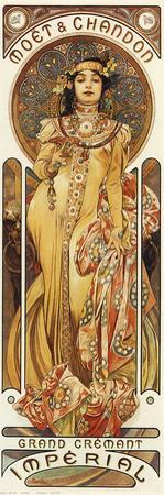 Moet & Chandon by Alphonse Mucha