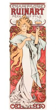 Mucha Champagne Ruinart Poster by Alphonse Mucha