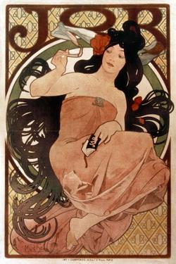 Mucha: Cigarette Paper Ad by Alphonse Mucha