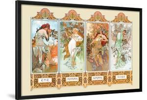 Mucha The Four Season by Alphonse Mucha