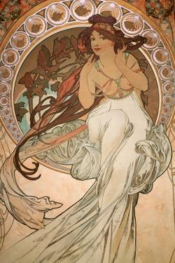 Music (from The Four Arts - Detail), 1898 by Alphonse Mucha