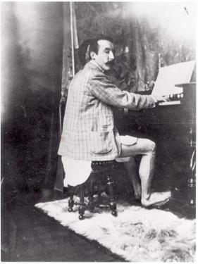 Paul Gauguin (1848-1903) Playing the Harmonium in Mucha's Studio, c.1895 by Alphonse Mucha