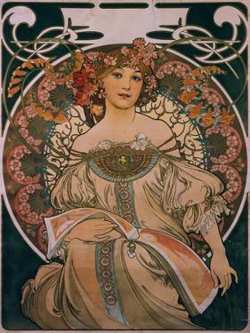 Plakatgestaltung (Urspruenglich Fuer F. Champenois, Jedoch Ohne Firmeneindruck), 1897 by Alphonse Mucha