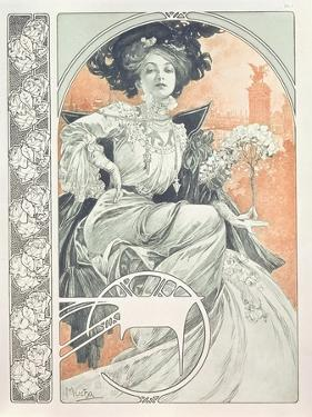 Plate 1 from 'Documents Decoratifs', 1902 by Alphonse Mucha