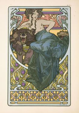 Plate 47 from the Book 'Documents Decoratifs', Published in 1902, 1902 by Alphonse Mucha