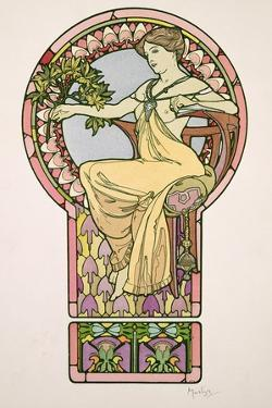 Plate 48 from 'Documents Decoratifs', 1902 by Alphonse Mucha
