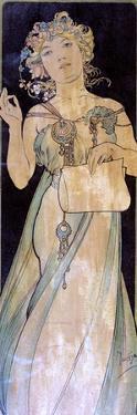 Portrait of a Woman, C1900-1939 by Alphonse Mucha