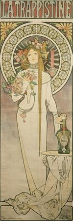 Poster Advertising 'La Trappistine', 1897 by Alphonse Mucha