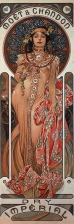 Poster Advertising 'Moet and Chandon Dry Imperial' Champagne, 1899 by Alphonse Mucha