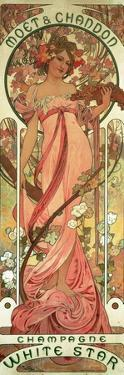 Poster Advertising 'Moet and Chandon White Star' Champagne, 1899 by Alphonse Mucha