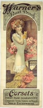 Poster Advertising 'Warner's Rust Proof Corsets', 1909 by Alphonse Mucha