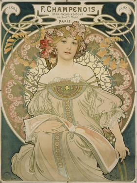 Poster for F. Champenois, 1897 by Alphonse Mucha