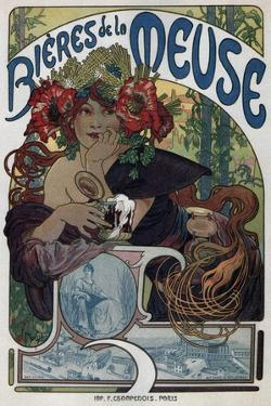 Poster for the Bieres De La Meuse, 1897 by Alphonse Mucha