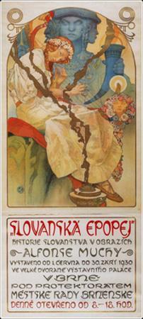 Poster for the Exhibition the Slav Epic (Slovanská Epope), 1928