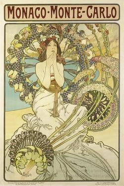 Poster for the Railway Company 'Chemin De Fers P.L.M.', 1897 by Alphonse Mucha