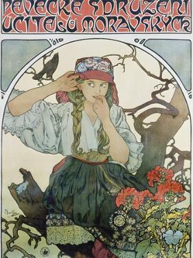 Poster 'Pévecké Sdruzeni Ucitelu Moravskych' (The Moravian Teachers' Choir), 1911 by Alphonse Mucha