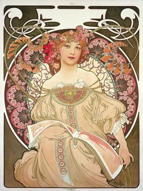 Reverie, 1897 by Alphonse Mucha