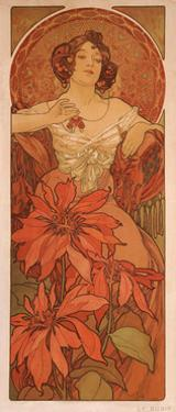 Ruby (From the Series the Gem) by Alphonse Mucha