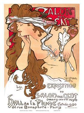 Salon des Cent, Art Nouveau, La Belle Époque by Alphonse Mucha