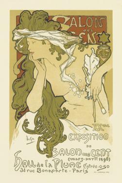 Salon Des Cent, Hall De La Plume by Alphonse Mucha