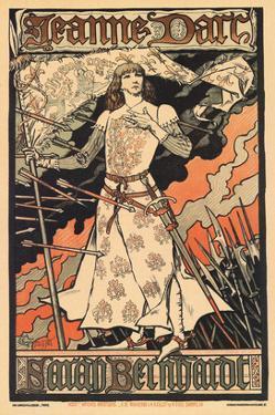 Sara Bernhardt as Joan of Arc by Alphonse Mucha