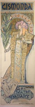 Sarah Bernhardt (1844-1923) as Gismonda at the Theatre De La Renaissance, 1894 by Alphonse Mucha