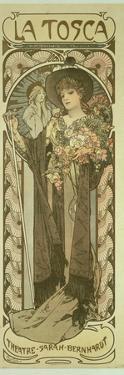 Sarah Bernhardt (1844-1923) in 'La Tosca', at the Theatre De La Renaissance, 1898 by Alphonse Mucha