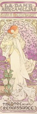 Sarah Bernhardt (1844-1923), La Dame Aux Camelias, at the Theatre De La Renaissance, 1896 by Alphonse Mucha
