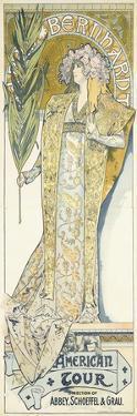 Sarah Bernhardt, American Tour, 1895 by Alphonse Mucha