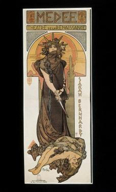 Sarah Bernhardt as Medee at the Theatre De La Renaissance by Alphonse Mucha