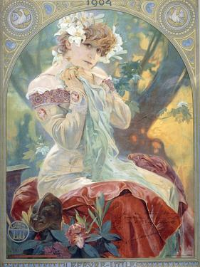 Sarah Bernhardt in the Role of Princess Lointaine, 1904 by Alphonse Mucha