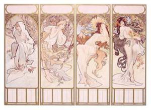Seasons, Winter Panel, 1897 by Alphonse Mucha