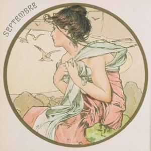 September, 1899 (Detail) by Alphonse Mucha