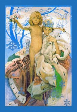 Snow Queen and Child by Alphonse Mucha