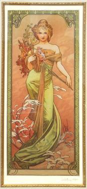 Spring (From the Series Les Saison) by Alphonse Mucha