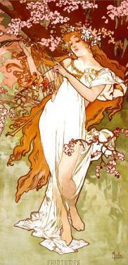 Spring by Alphonse Mucha