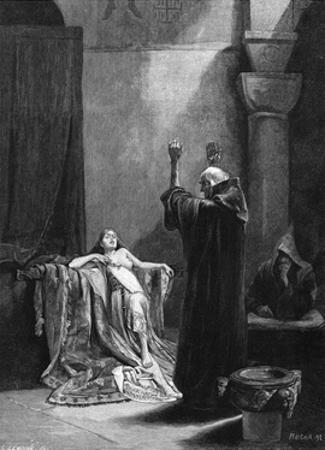 St Gall Exorcises by Alphonse Mucha
