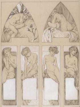 Study for Plate 22 from 'Figures Decoratives', 1905 by Alphonse Mucha