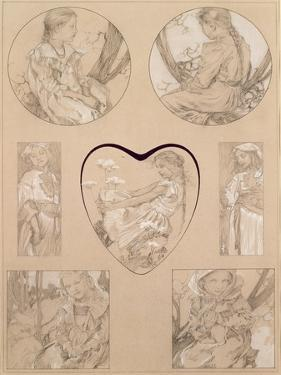Study for Plate 28 from 'Documents Decoratifs', 1905 by Alphonse Mucha