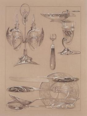 Study for Plate 69 of 'Documents Decoratifs', 1902 by Alphonse Mucha