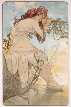 Summer; Ete, C.1896 by Alphonse Mucha