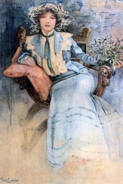 The Artist's Wife, 1903 by Alphonse Mucha