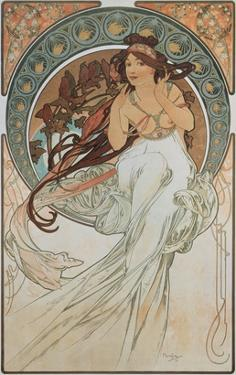The Arts: Music, 1898 by Alphonse Mucha
