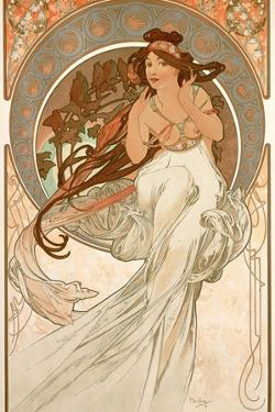 The Arts: Music, 1898 by Alphonse Mucha