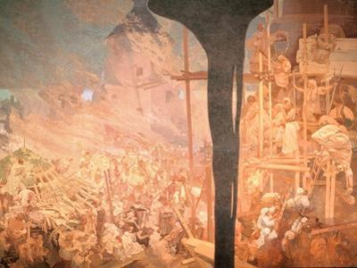 The Defence of Sziget, from the 'Slav Epic', 1914 by Alphonse Mucha