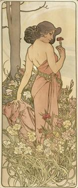 The Flowers: Carnation, 1898 by Alphonse Mucha